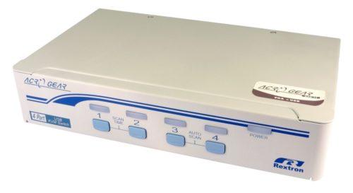 4-Port USB & VGA KVM Switch